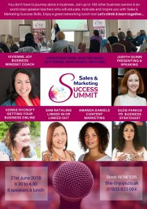 Poster including Judith Quin as Guest Speaker at She Enjoys Success Summit