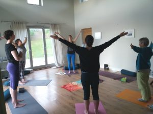 Shows Yoga Class in Cork Sound HealingRetreat
